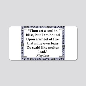 Thou Art A Soul In Bliss Aluminum License Plate