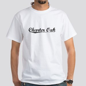 Charter Oak, Vintage White T-Shirt