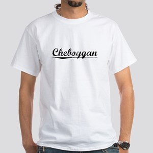 Cheboygan, Vintage White T-Shirt
