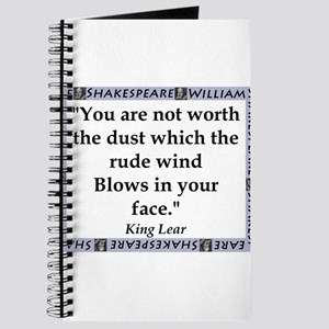 You Are Not Worth The Dust Journal