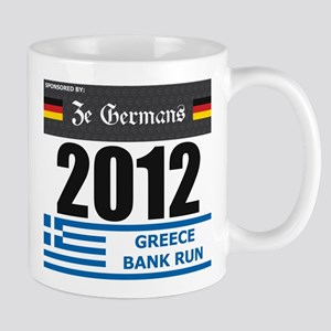 Bank Run 2012 - Greece Mug