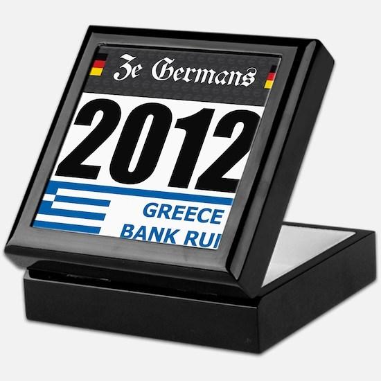 Bank Run 2012 - Greece Keepsake Box