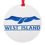 West Island Classic Logo Round Ornament