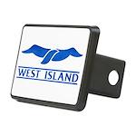 West Island Classic Logo Rectangular Hitch Cover