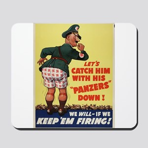 WWII POSTER LET'S CATCH HIM WITH HIS PANZERS DOWN