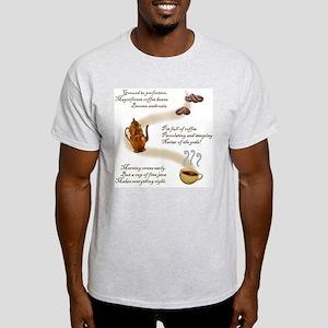 Coffee Haiku Ash Grey T-Shirt