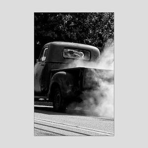 Smokin Truck Mini Poster Print