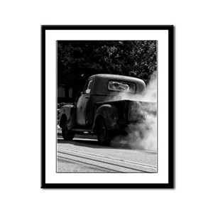 Smokin Truck Framed Panel Print
