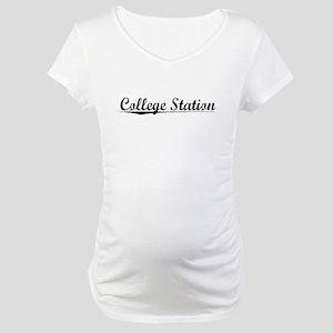 College Station, Vintage Maternity T-Shirt