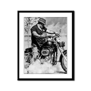 Hell Rider Framed Panel Print