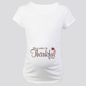 Thankful Maternity Maternity T-Shirt
