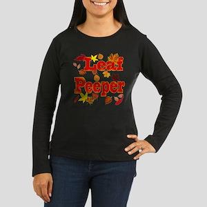 Leaf Peeper Women's Long Sleeve Dark T-Shirt