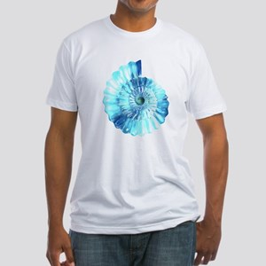 Blue Ammonite Fitted T-Shirt