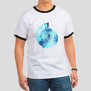 Blue Ammonite Ringer T
