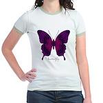 Deep Butterfly Jr. Ringer T-Shirt