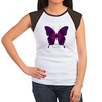 Deep Butterfly Women's Cap Sleeve T-Shirt