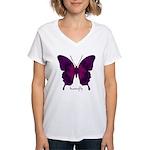 Deep Butterfly Women's V-Neck T-Shirt