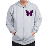 Deep Butterfly Zip Hoodie