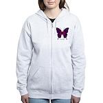 Deep Butterfly Women's Zip Hoodie