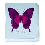 Deep Butterfly baby blanket