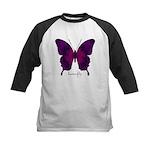Deep Butterfly Kids Baseball Jersey