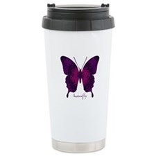 Deep Butterfly Stainless Steel Travel Mug