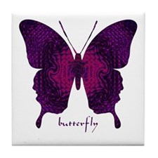 Deep Butterfly Tile Coaster