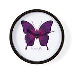 Deep Butterfly Wall Clock