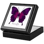 Deep Butterfly Keepsake Box