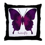 Deep Butterfly Throw Pillow