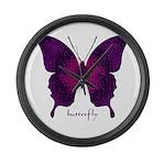 Deep Butterfly Large Wall Clock