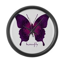 Deep Butterfly Large Wall Clock