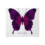 Deep Butterfly Throw Blanket