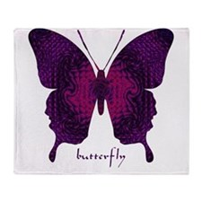 Deep Butterfly Throw Blanket