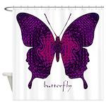 Deep Butterfly Shower Curtain