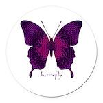 Deep Butterfly Round Car Magnet
