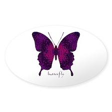 Deep Butterfly Sticker (Oval)