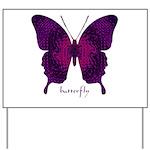 Deep Butterfly Yard Sign