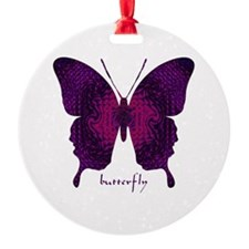Deep Butterfly Round Ornament