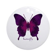 Deep Butterfly Ornament (Round)