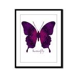 Deep Butterfly Framed Panel Print