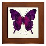 Deep Butterfly Framed Tile