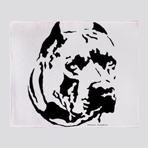 rocky cut out Throw Blanket