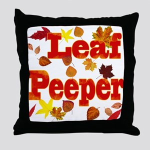Leaf Peeper Throw Pillow