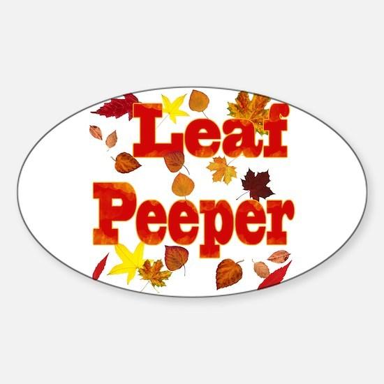 Leaf Peeper Sticker (Oval)