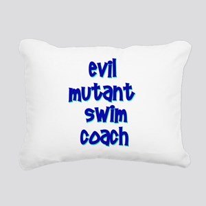 Evil Mutant Swim Coach Rectangular Canvas Pillow