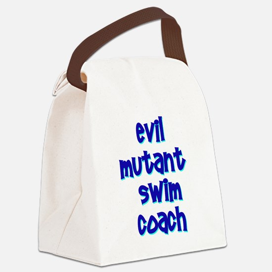 Evil Mutant Swim Coach Canvas Lunch Bag