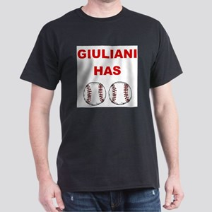 Giuliani Has balls Black T-Shirt
