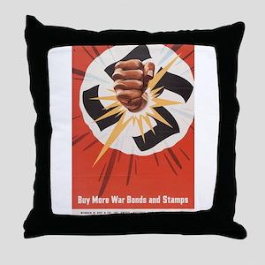 WWII POSTER BUY MORE WAR BONDS Throw Pillow