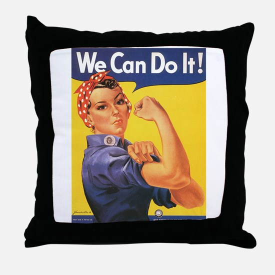 WWII POSTER WE CAN DO IT! Throw Pillow